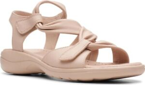 Clarks Saylie Moon Strappy Sandal (Women's) in Nude Full Grain Leather - NEW