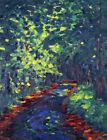 Framed canvas art print giclee DER WALDWEG (FOREST PATH)