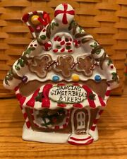 Blue Sky Clayworks Dancing Gingerbread Bakery Reindeer Christmas T Light House