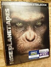 RISE OF THE PLANET OF THE APES (2011) Blu-ray+Digital Copy Limited Ed STEELBOOK