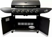 Deluxe Gas BBQ 6+1 Grill Side Burner Outdoor Smoker Oven Meat Burger Party Pro
