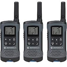 Motorola 2-Way Radio, 3-Pack, 20Mi.,  Gray