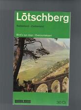 Lötschberg - Karte, Wanderkarte - 1971