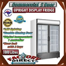 1000 LT Upright Glass Commercial Display Drink Beer Fridge
