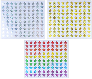 Henbrandt Holographic Star Stickers 500/Pack School Rewards FREE 1ST CLASS