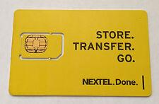Nextel 64k Sim Card Simgus003R New Oem
