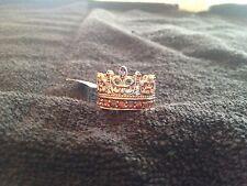 Dallas Prince 1.75 ctw Brown Zircon & Multi Colored Sapphire Crown Ring, Size 9