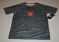 New Spyder Athletic Gray Tee Style Loose Fit Top Shirt Y G  NWT Short Sleeve