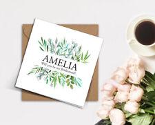 PERSONALISED rustic wedding greenery foliage eucalyptus Bridesmaid card invite