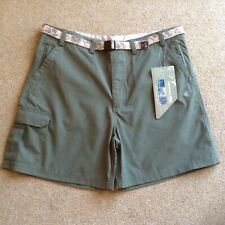 Women's shorts New in green colour size L by Trespass plenty of zipped pockets