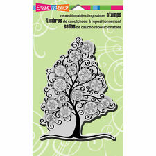 Stampendous Snowflake Tree Cling Background Stamp CRR212 Christmas Card Making