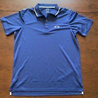 Oakley Polo Shirt Men's Medium Regular Fit Blue Short Sleeve Golf Lightweight