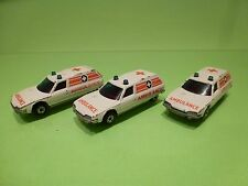 MATCHBOX 12 SUPERFAST 3x CITROEN CX BREAK  - AMBULANCE - WHITE - GOOD CONDITION
