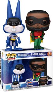 2 Set Space Jam 2 - Bugs Bunny as Batman & LeBron James Robin Pop! Vinyl Figure