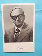 YITZHAK NAVON (1921-2015) FMR. ISRAEL PRESIDENT SIGNED 4X6 PHOTO
