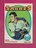 1971-72 OPC # 163 SABRES RON ANDERSON  NRMT CARD  (INV#1016 )