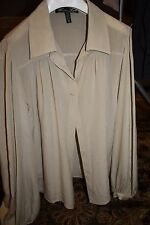Winter Kate  Draped Silk Blouse feminine vintage inspired ecru Medium EEUC