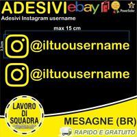 Kit 2 Adesivi Instagram username Nome Divertente Auto Adesivo Mood GIALLO Mood
