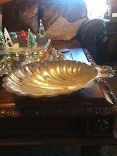 Leonard Silver Plated Clam Shell Serving Tray Dish Vintage Hong Kong Silverplate