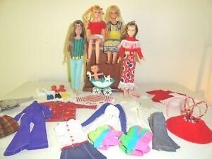 Vintage Barbie Sister Skipper Doll Lot 4 Dolls Clothes Shoes Accessories Clean