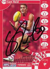 ✺Signed✺ 2013 SYDNEY SWANS AFL Card SAM REID