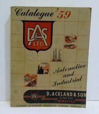 1959 Acklands Industrial Automotive Catalogue Catalog Service Station Garage etc