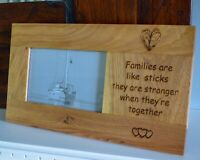 Solid Oak Photo Picture Frame - Personalised and Engraved - Made to Order