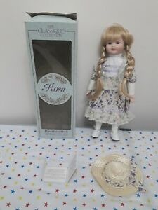 The Classique Collection Rosa Porcelain Doll - Boxed with Card Name - 40cm Tall