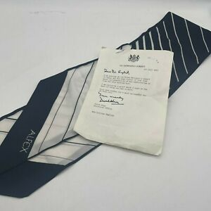 Margaret Thatcher's Genuine Silk Scarf with Downing Street Letter 1981 (#H1/21)