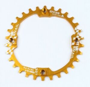 Bicycle MTB Bike Single Narrow Wide Round Chainring Chain Ring BCD 104mm 30T 38g