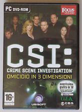 PRL) 2007 CSI CRIME SCENE INVESTIGATION 3D PC DVD-ROM OMICIDIO IN 3 DIMENSIONI