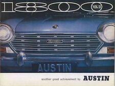Austin 1800 Mk II Original UK Sales Brochure No. 2508/A n/d but circa 1967-68