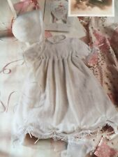 Easy Knit Christening, Baptism Dress, Bonnet & Bootees 3 Ply Knitting Pattern
