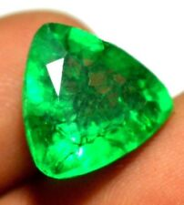 NATURAL COLOMBIAN GREEN EMERALD TRILLION-CUT AMAZING COLOUR LOOSE GEMSTONE