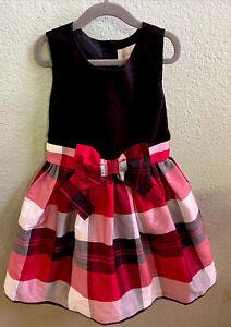 Gymboree Size 6 Red Black Plaid Christmas Dress Bow Dressed Up