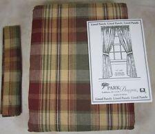 Plaid Curtains Drapes Valances For Sale