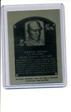 1981-89 HALL OF FAME METALLIC PLAQUE Martin DiHigo NR-MT Negro League Legend