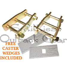 PAIR EXTENDED ANTI INVERSION SUSPENSION SHACKLES HOLDEN RODEO ISUZU DMAX 2012>