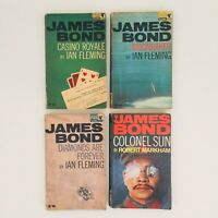 Ian Fleming James Bond Vintage Pan Paperback Collection inc Casino Royale