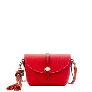 NWT*Dooney & Bouke*RED* Cambridge Crossbody Saddle Bag Shoulder Bag 17295M S186