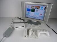 Nintendo Wii Bundle - RVL 001 Nunchuck Gamepad Gamecube Compatible WORKS GREAT