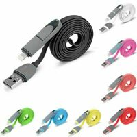 2in1 Micro USB Data Fast Charging Quick Charger Cable  For CellPhone Samsung  LG
