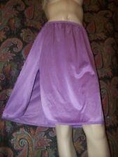 Vassarette Purple Nylon Tricot A-line Slit Half Slip L