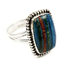 Rainbow Calasilica Fashion Ring Solid 925 Sterling Silver Size 9 FSJ2804