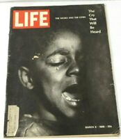 """VINTAGE LIFE MAGAZINE MARCH 8,1968, """"THE CRY THAT WILL BE HEARD"""" ARICLES & ADS"""