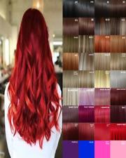 Clip de extensiones de cabello en extensión de cabello humano Real sentir Rojo Negro Marrón Rubio