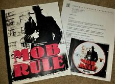 RARE, Vintage PRE-RELEASE Mob Rule PC Strategy Game Simon & Schuster Interactive