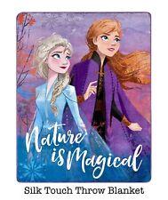 1 Disney Frozen 2 II Soft Silk Touch Blanket Throw Nature Bedding Anna Elsa