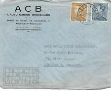 BELGIUM 3f + 4f ON ANDERLECHT COVER TO USA   MY REF 1118