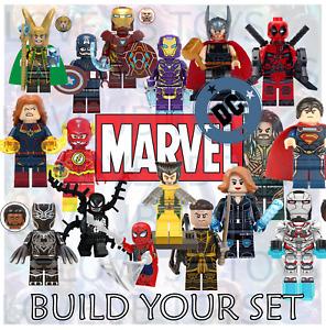 Marvel Mini Figures DC Avengers X Men Justice League Minifigures Custom Set